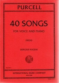 PURCELL 40 SONGS COMPLETE High