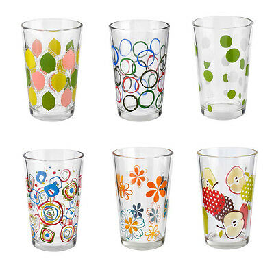 230ml Stackable Drinking Water Glass Cold Juice Tumbler Set of 6 New
