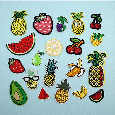 1 / 8Pcs Parches tela bordado fruta coser costura remiendos  Ropa Applique