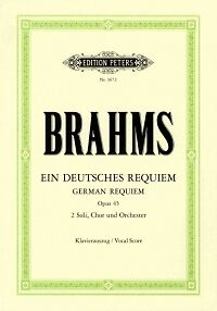 BRAHMS REQUIEM (GERMAN) Op45 VOCAL SCORE GERMAN