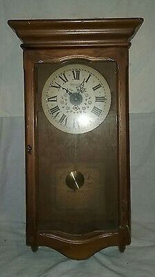Vintage New England Clock Decorative Wall Clock 8 Day Spring Wind Parts