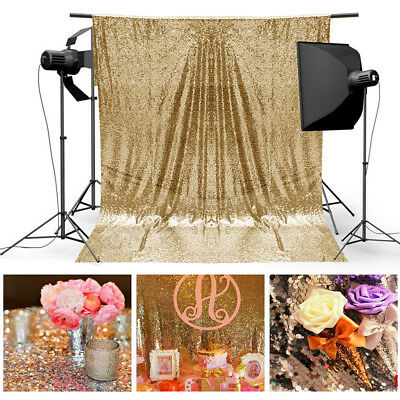 4X6FT Golden Sequin Photo Backdrop Wedding Photography Background Backdrop Booth