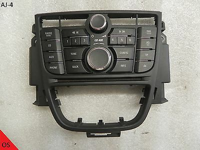 Opel Astra J Radio CD400 CD Cover Control Panel Switch Radio 13346050