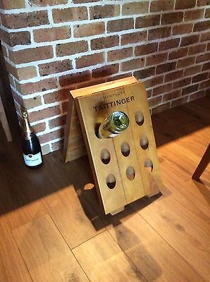 New French Champagne Riddling Storage Rack 18 Bottle Display Stand Cellar Bar