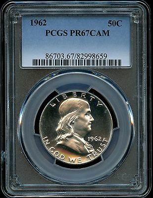 1962 Franklin Half Dollar PCGS PROOF 67 CAMEO Silver 50c