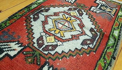 "Antique 1900-1930's Tribal Rug 1'9""×3"""