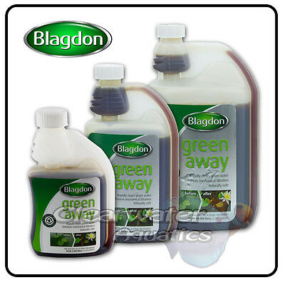 Blagdon GREEN AWAY POND Cloudy Dirty Water ALGAE TREATMENT Clear Weed Medicine