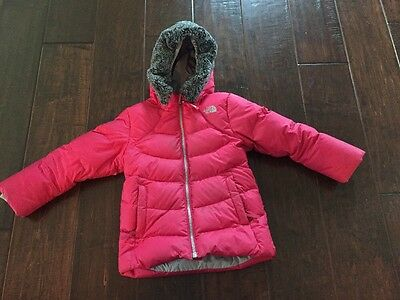 The North Face Toddler Pink Polar Down Parka.  Size 4T.  Great Condition!