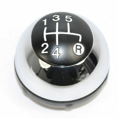 Fiat 500 Complete Gear Knob Chrome with Black Cap New Genuine 55344048