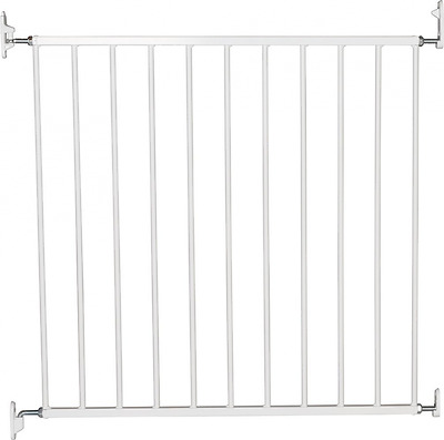 Baby Safety Gate Safe Stair Infant Child Pet Dog Home Door Guard Metal White New