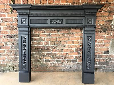 Beautiful Original Victorian Cast Iron Fire Surround DEL £25 MAX
