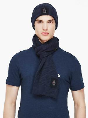 Luke 1977 Mens Unbeweavable Hat And Scarf Set Warm Winter Knitted Accessory