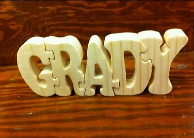 Personalized wooden puzzle with child's name ..$3.50 a letter free shipping