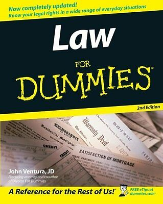 Law for Dummies (2nd Revised edition),PB,John Ventura - NEW