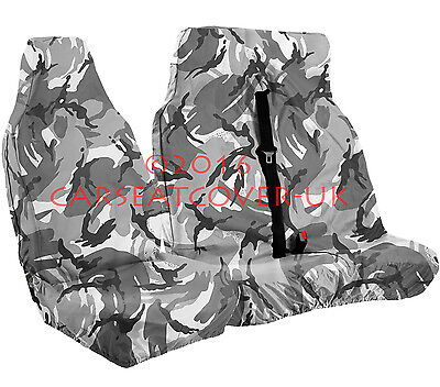 Ford Transit Mk 7 (06-13) URBAN GREY Camo CAMOUFLAGE Waterproof VAN Seat COVERS