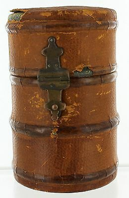 Antique Vintage TELESCOPE CAMERA LEATHER COVERED LENS CASE ONLY
