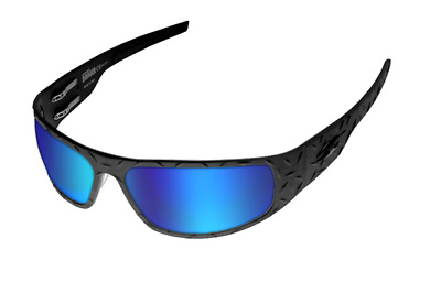 NEW ICICLES Big Daddy Bagger Blue Lens Sunglasses with Matte Black Diamond