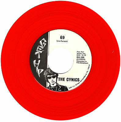 THE CYNICS 69 / friday night 45RPM 1990 Fan Club release CLEAR RED VINYL +insert