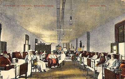 Marion Indiana Soldiers Home Hospital Interior Antique Postcard K61889