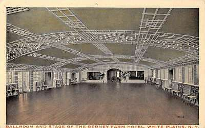 White Plains New York Gedney Farm Hotel Ballroom Antique Postcard K61918