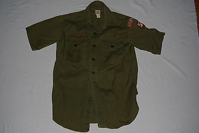 Vintage BOY SCOUTS OF AMERICA Official Shirt Green WILLIAMSPORT PA Patch