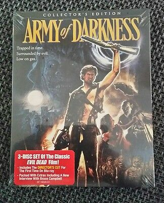 Army Of Darkness / 3 Disc Collections Edition / Blu Ray / Region A / OVP