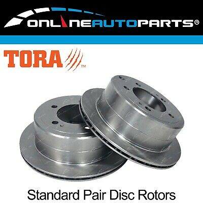 2 Rear Disc Rotors suits Toyota Landcruiser HZJ105 FZJ105 100 105 Series Brake