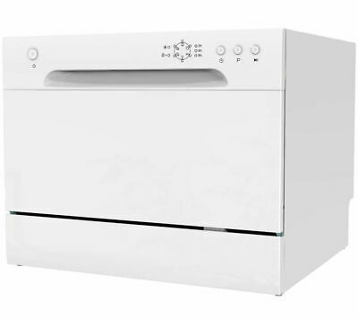 ESSENTIALS CDWTT15 Compact Dishwasher White 6 Place Settings 6.5 Litres 49 dB(A)