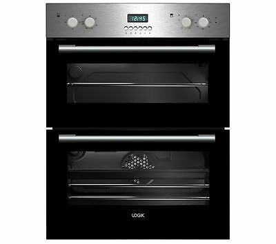 LOGIK LBUDOX16 Electric Built-under Double Oven Stainless Steel
