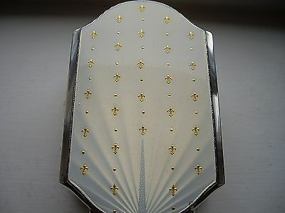 Stunning Art Deco Albert Carter Solid Silver & Guilloche Enamel Brush B'ham 1939