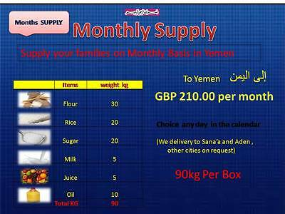 Monthly Food Supply To Yemen