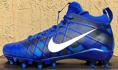 MENS NIKE ALPHA FIELD GENERAL ELITE CAMO FOOTBALL CLEATS SIZE 9.5 Royal Blue