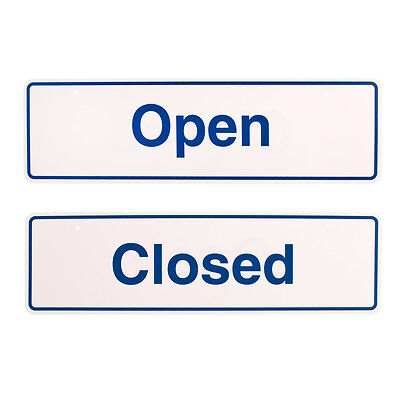 Styrox Business Office Signs - Open/Closed - 330 x 95mm