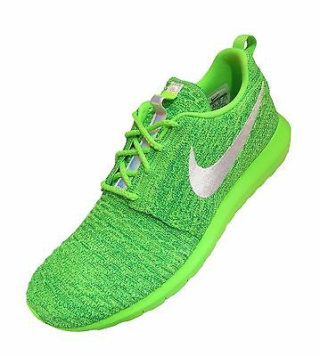 a9e01371e01bc Nike Men s Roshe NM Flyknit Voltage Green Lucid Green White Athletic  Sneakers 14