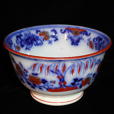 Davenport Childs FLOW BLUE Poly CHINESE Waste Bowl Toy Tea Set c1844