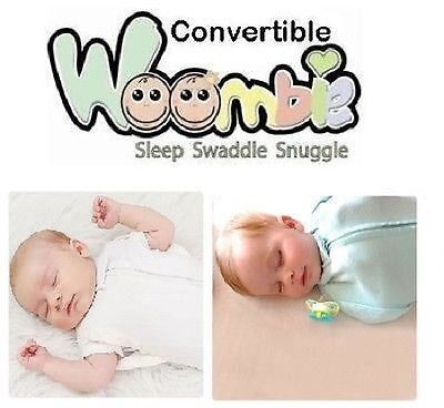 New Woombie Convertible Baby Swaddle ~ Choose Size & Color
