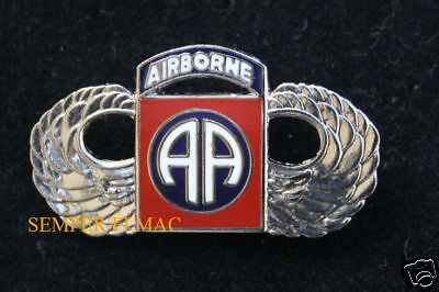 82Nd Airborne Division Wings Hat Lapel Pin Up Us Army Veteran Gift Fort Bragg