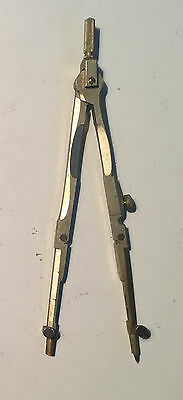 Antique - Early 20th Century Brass Compass Divider 6 inches Long