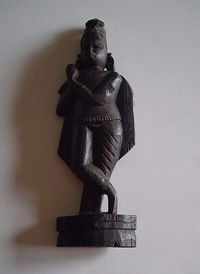 African, Eastern Indian Or South American Wood Carved Figure, 9 Inches Tall