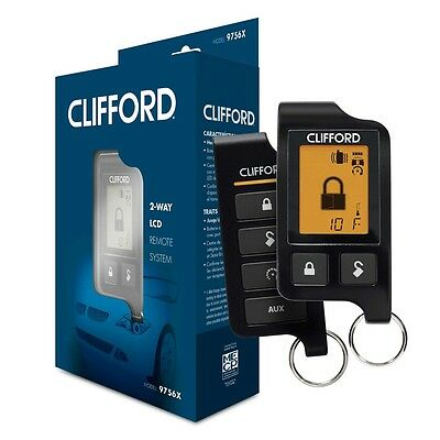 Clifford 9756X 2-WAY LCD RF SYSTEM 1 MILE RANGE for Car Alarm & Remote Start