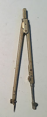 Antique -- Early 20th Century Brass Compass Divider 6 inches Long