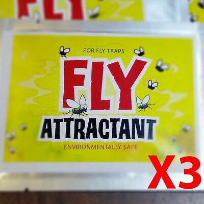 (3PK) Fly trap attractant, Environmentally Safe, best fly catcher