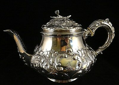 "Beautiful English Sterling Teapot by Crispin Fuller, London 1823. 8 5/8"" wide"