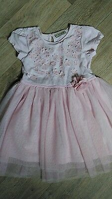 Blush pink party occasion wedding dress from NEXT 12-18 months