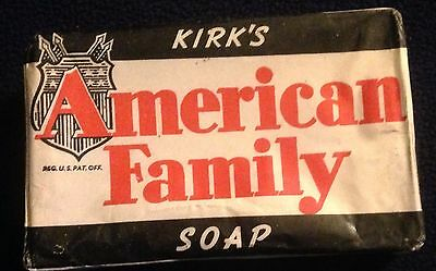Circa 1940 Vintage Kirk's American Family Soap Bar New Old Stock