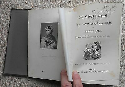 Book, Boccaccio The Decameron, Illustrated by T. Stothard, 1872