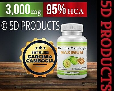 100% Pharma Grade Garcinia Cambogia 3,000mg 95% HCA~ (30 Capsules) WEIGHT LOSS