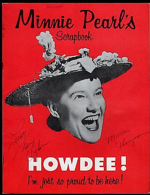 >Original 1950's ~Autographed~ MINNIE PEARL'S SCRAPBOOK Country Music Magazine