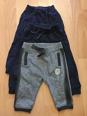 Mothercare F+F And Next Baby Boys Joggers x3 Age 9-12m