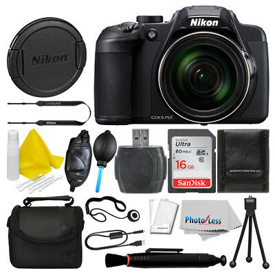 Nikon COOLPIX B700 Digital Camera (Black) + 16GB Deluxe Accessory Bundle